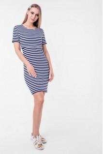 Платье Barcelona (мини) синий с белым для беременных и кормления