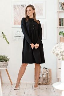 Платье Beirut черный для беременных и кормления