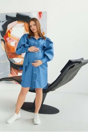 Джинсовое платье Florence для беременных и кормления Светло-синий