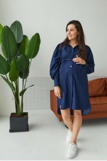 Джинсовое платье Florence для беременных и кормления Синий