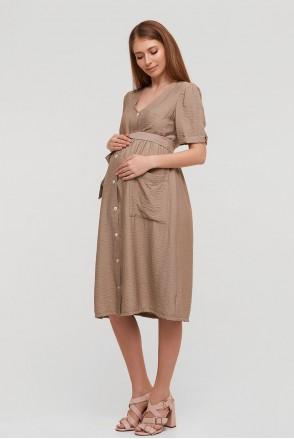 Платье Lima бежевый для беременных и кормления