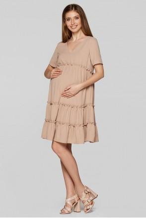 Летнее платье для беременных Lullababe Madagascar Бежевый