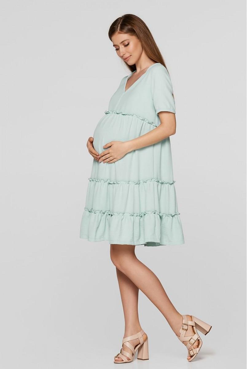 Летнее платье для беременных Lullababe Madagascar Мятный