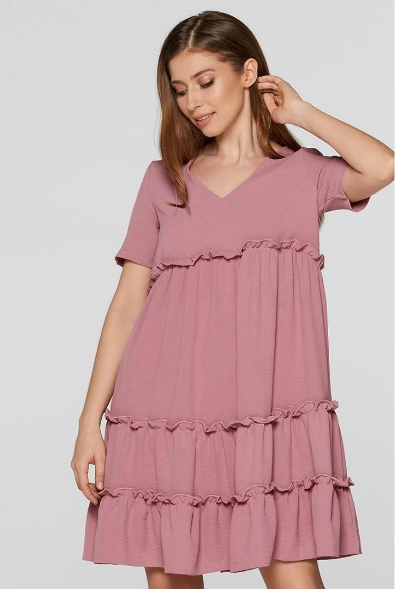 Летнее платье для беременных Lullababe Madagascar Пыльная Роза