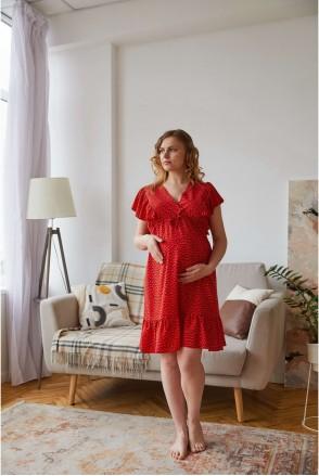 Платье Montana красный для беременных