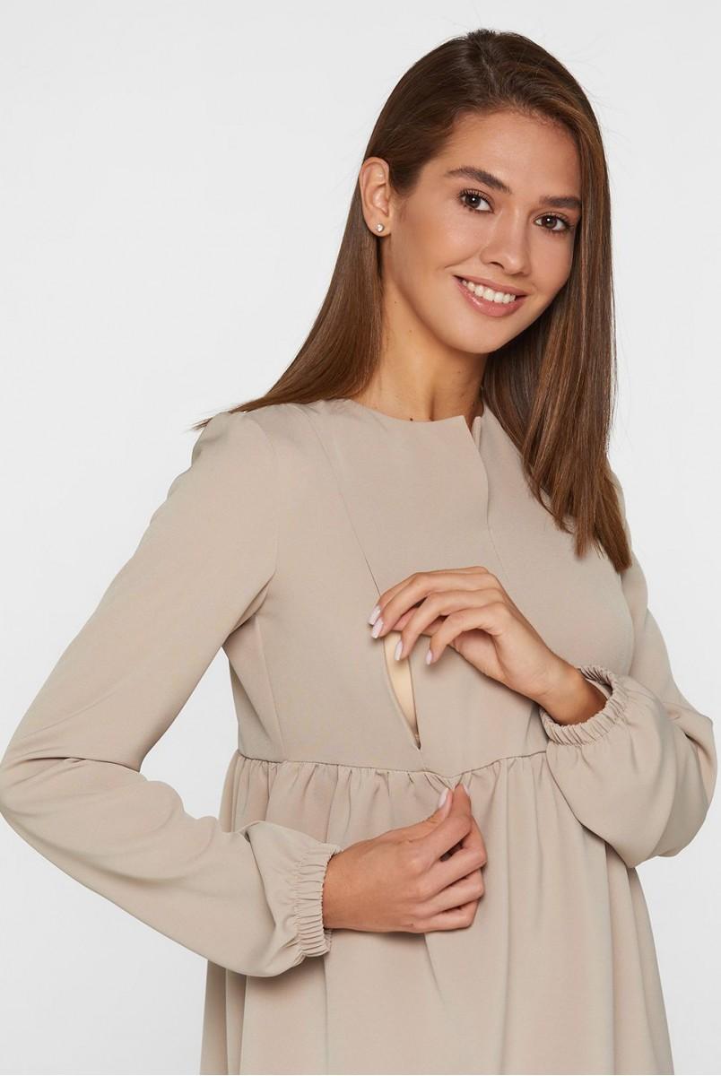 Платье для беременных и кормления Lullababe Genoa LB05GN160 темно-бежевый
