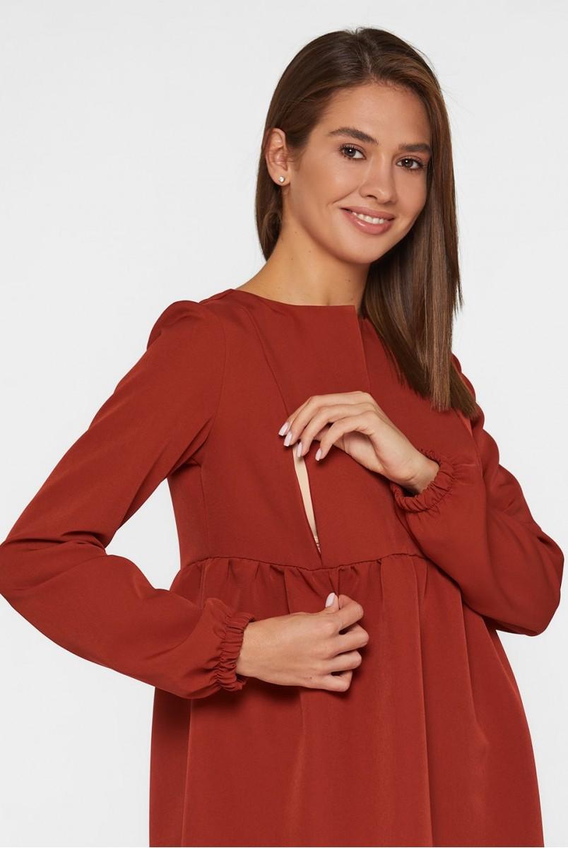 Платье для беременных и кормления Lullababe Genoa LB05GN132 терракотовый