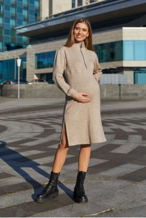 Платье для беременных и кормления Lullababe Virginia LB05VG140 бежевый