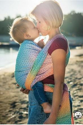 Слинг-шарф LUNA DREAM Little Hearts Rainbow