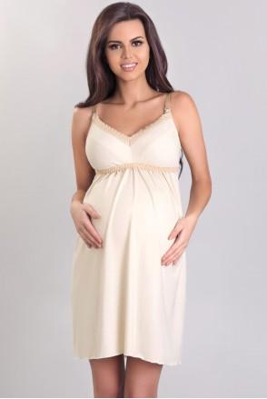 Ночная рубашка 3064 ecru для беременных и кормящих мам