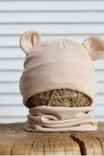 Набір шапка з манишкою Bruin бежевий