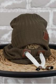 Набір шапочка зі снудом Hills хакі
