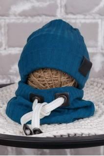 Набір шапочка зі снудом Hills темно-бірюзовий