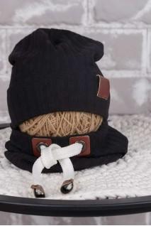 Набір шапочка зі снудом Hills чорний