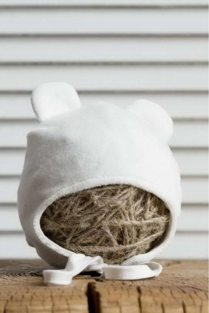 Велюрова шапка Tessera молочна