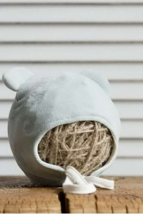 Велюровая шапка Tessera сизая