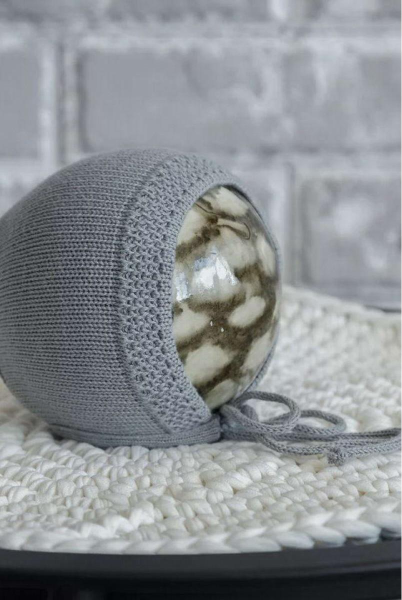 В'язана шапка Loran сіра