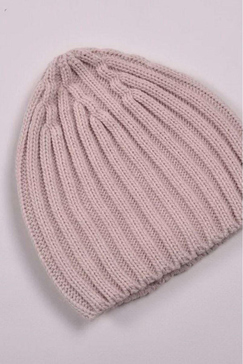 В'язана шапочка Alen пудрова