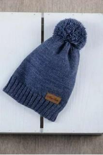 В'язана шапочка Lucky синій