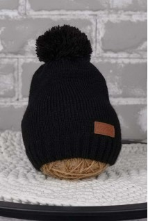 В'язана шапочка Lucky чорний
