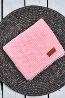 В'язаний снуд-манишка Lucky рожевий