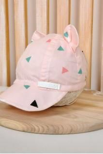 Кепка Треугольники на розовом