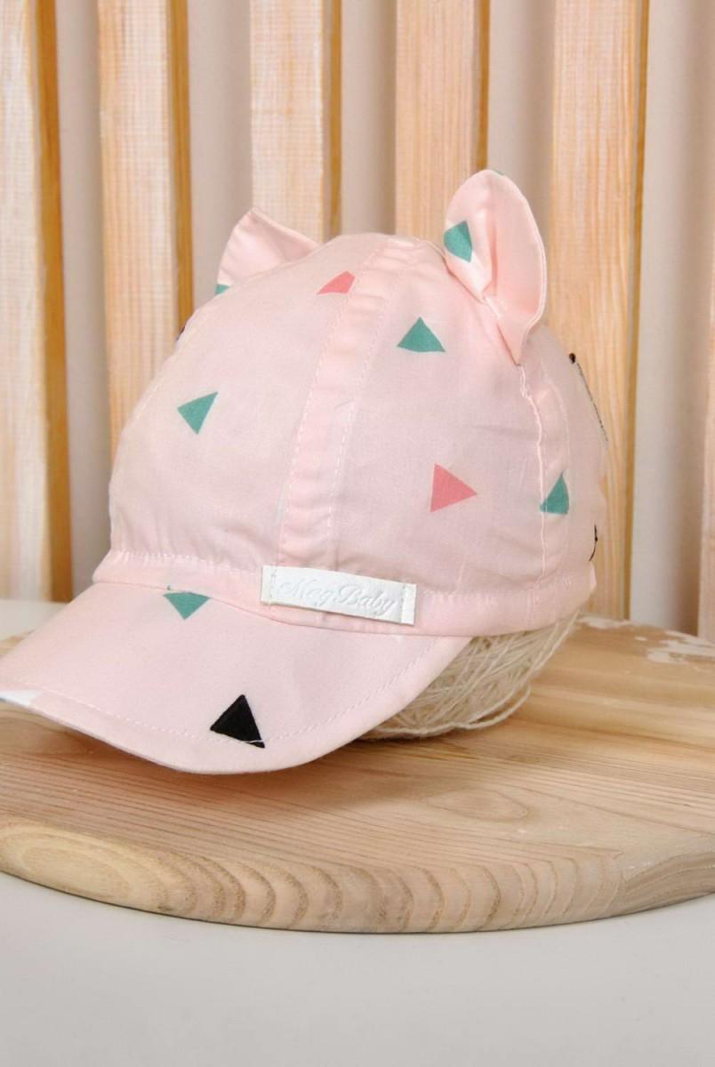 Кепка трикутники на рожевому
