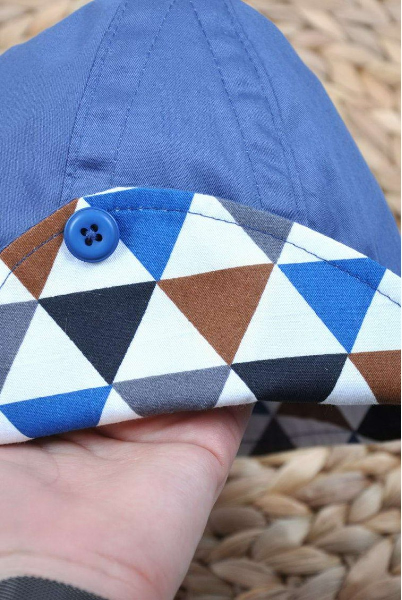 Панама Lapel трикутники сині