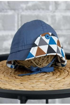Панама Lapel Треугольники синие