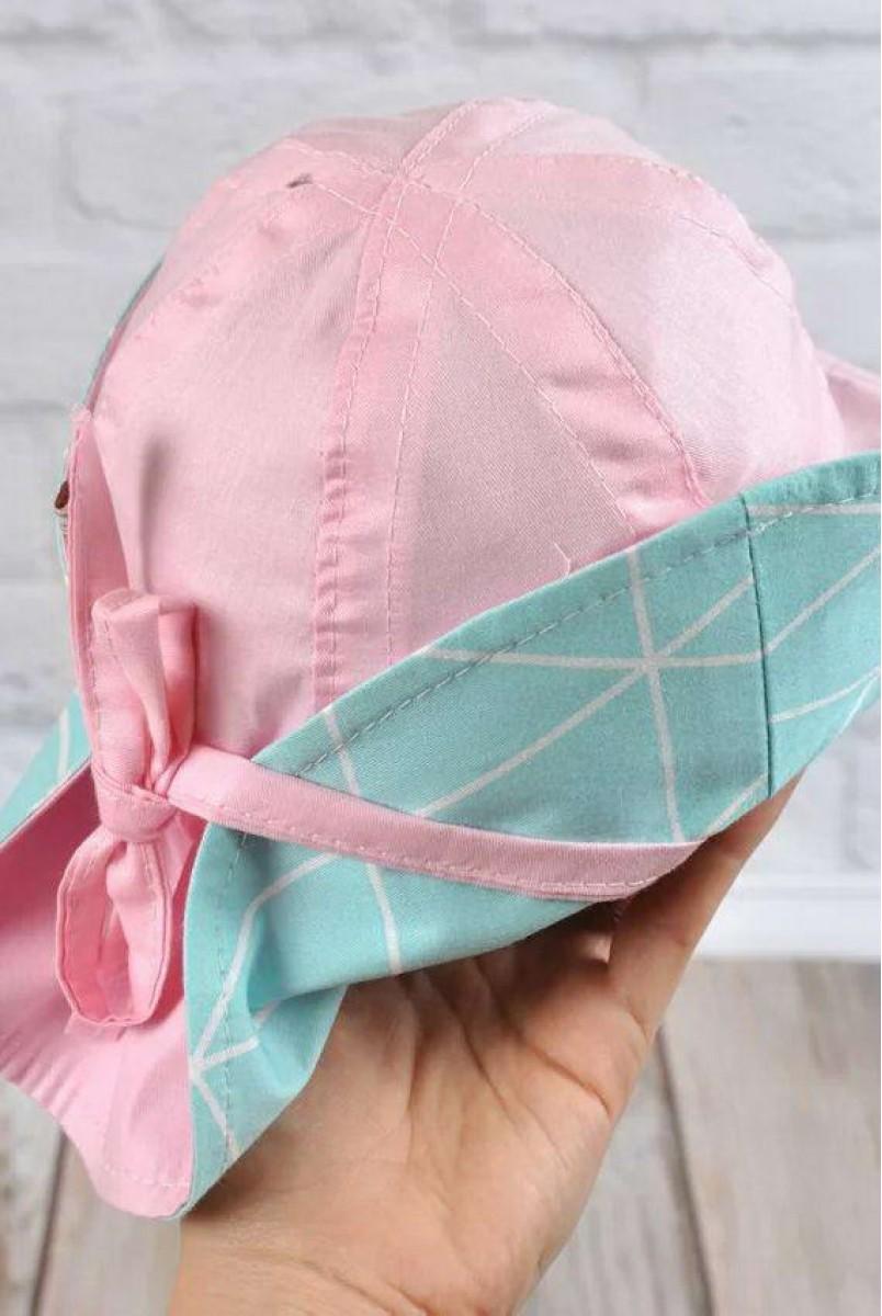 Панама Шарліз бірюзові трикутники з рожевим