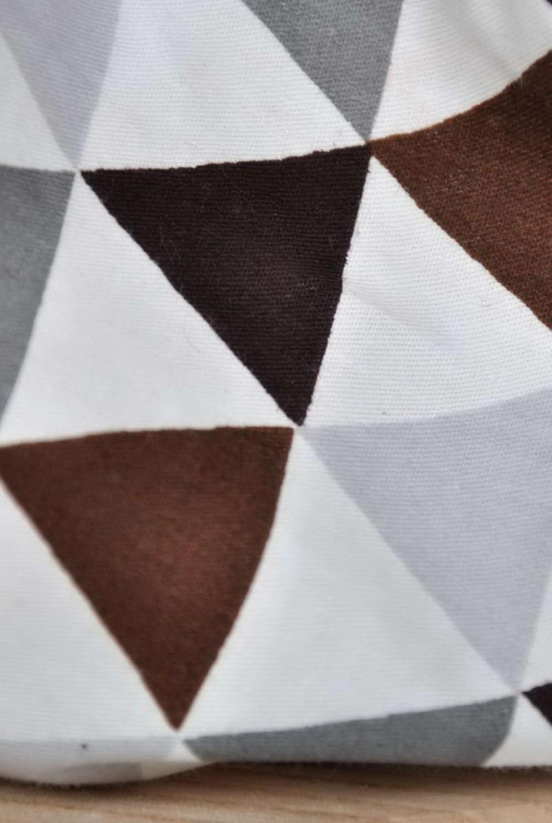 Панама Classik Коричнево-сірі трикутники