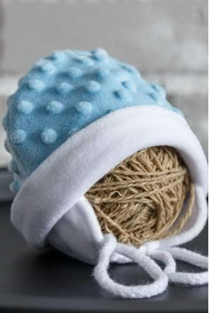 Плюшева шапочка Newborn блакитна