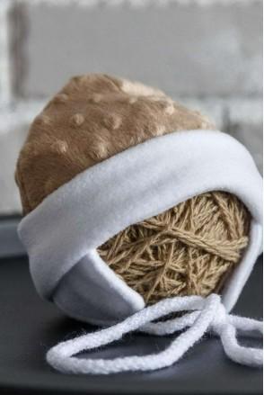 Плюшева шапочка Newborn коричнева