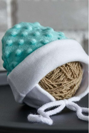 Плюшева шапочка Newborn ментолова