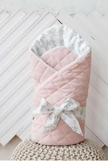 """Демісезонний велюровий конверт-ковдра """"Tessera"""" рожевий"""