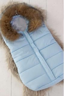 """Зимний конверт для новорожденного """"Дутик Snowman"""" голубой"""
