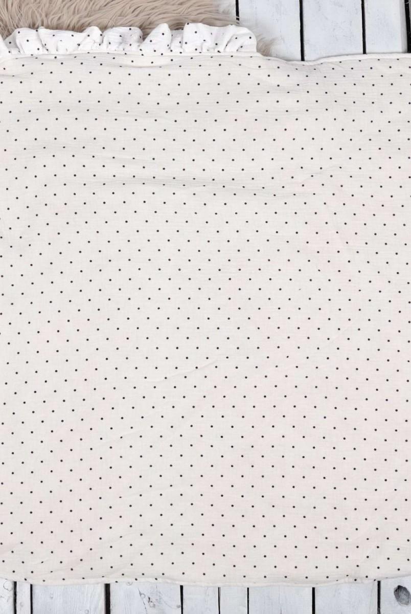 Мусліновий конверт з шапочкою Shery чорно-білий горох