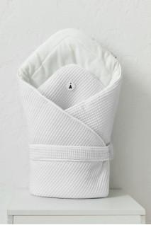 Демісезонний вафельний конверт-ковдра для дітей MagBaby Kyle білий