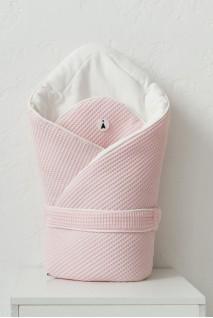 Демісезонний вафельний конверт-ковдра для дітей MagBaby Kyle рожевий