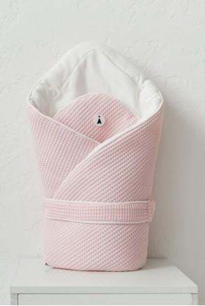Демисезонный вафельный конверт-одеяло для детей MagBaby Kyle розовый