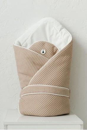 Демисезонный вафельный конверт-одеяло для детей MagBaby Kyle бежевый