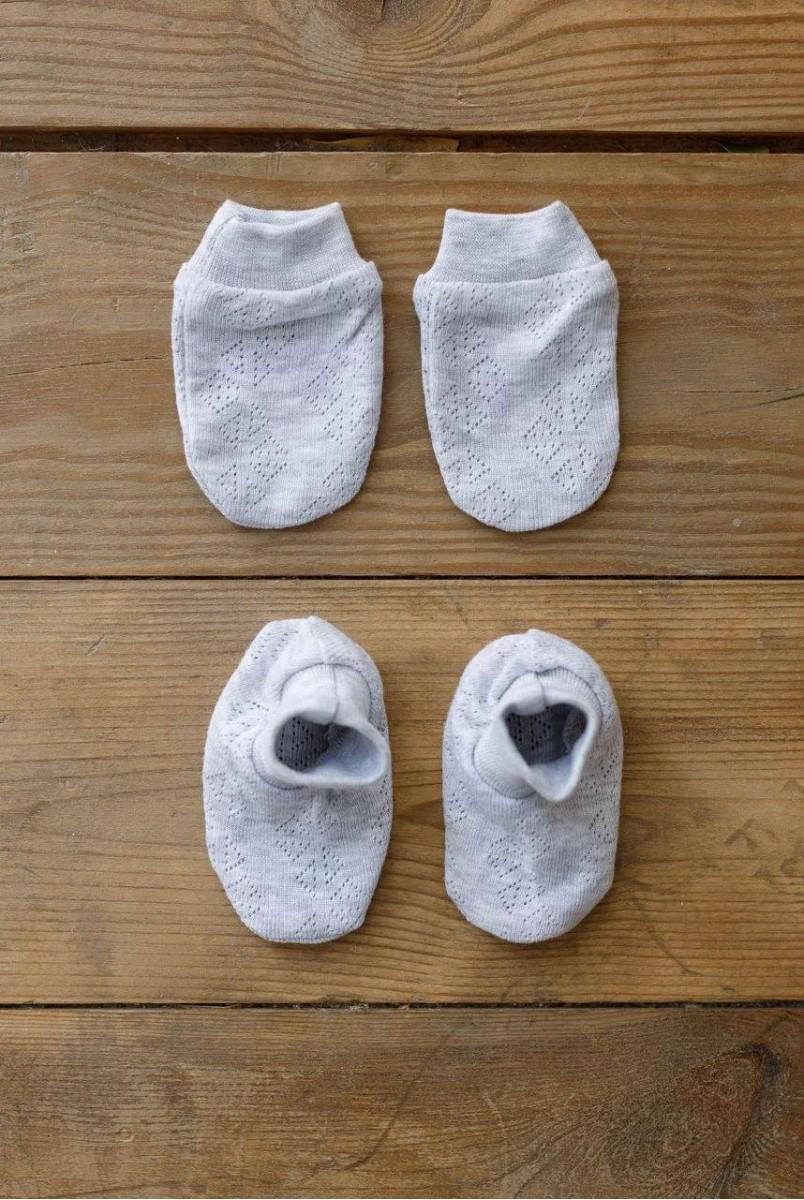 Набір для новонародженого Wind сірий меланж