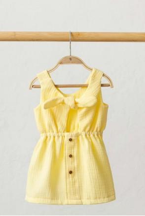 Муслиновое платье Mia лимонное (0-2 года)