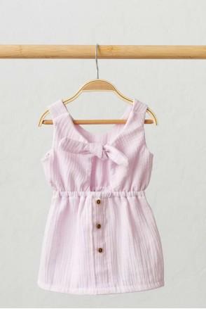 Муслиновое платье Mia лавандовое (0-2 года)