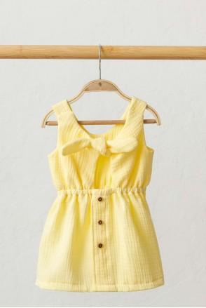 Муслиновое платье Mia лимонное (2 года)