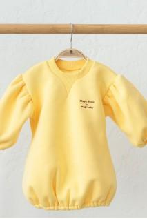 Сукня на флісі для дітей MagBaby Aleksa лимонна