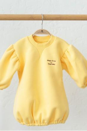 Платье на флиcе для детей MagBaby Aleksa лимонное