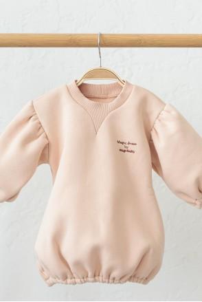 Платье на флиcе для детей MagBaby Aleksa бежевое
