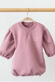 Сукня на флісі для дітей MagBaby Aleksa темно-рожева