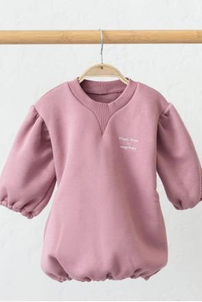 Платье на флиcе для детей MagBaby Aleksa темно-розовое